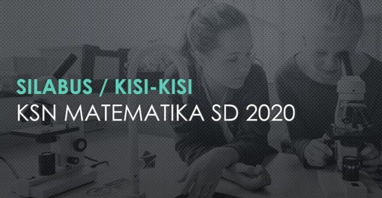 silabus kisi-kisi ksn matematika sd 2020