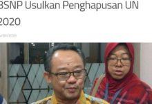 BSNP Mengusulkan UN 2020 ditiadakan dibatalkan