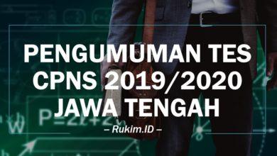 Download Pengumuman Hasil Seleksi CPNS Jawa Tengah 2019 2020