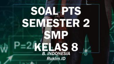 Download Soal PTS Bahasa Indonesia SMP Kelas 8 Semester 2 Genap
