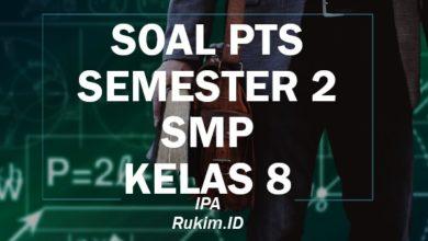 Download Soal PTS IPA SMP Kelas 8 Semester 2 Genap