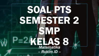 Download Soal PTS Matematika SMP Kelas 8 Semester 2 Genap