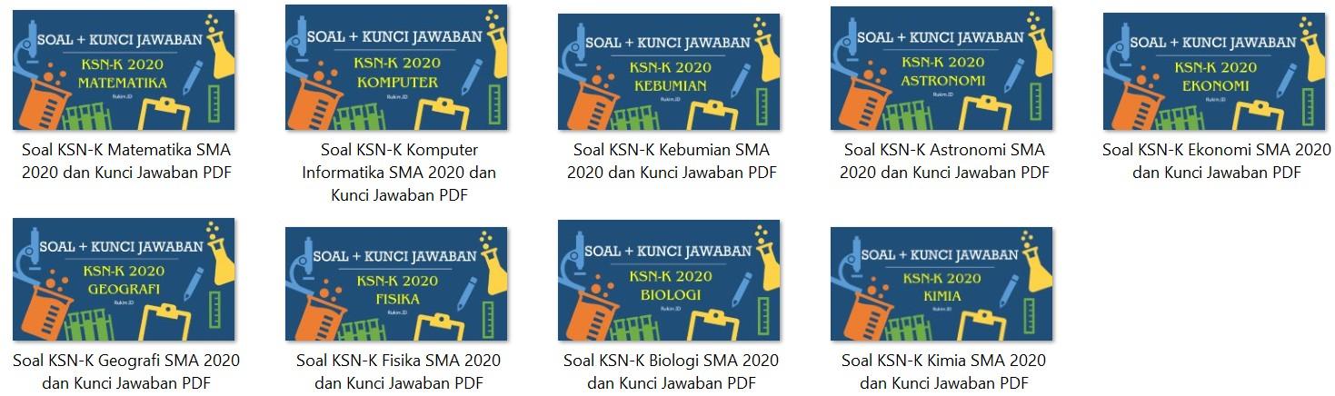 Download Soal dan Kunci Jawaban KSN-K 2020 PDF