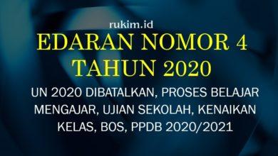 Download Surat Edaran Nomor 4 Tahun 2020 PDF