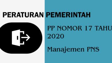 PP Nomor 17 tahun 2020