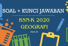 Soal KSN-K Geografi SMA 2020 dan Kunci Jawaban PDF