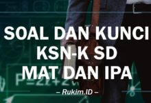 Soal dan Kunci KSN-K Matematika IPA SD 2020 PDF
