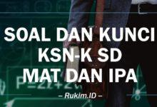 Soal dan Kunci KSN-K Matematika IPA SD 2020 PDF