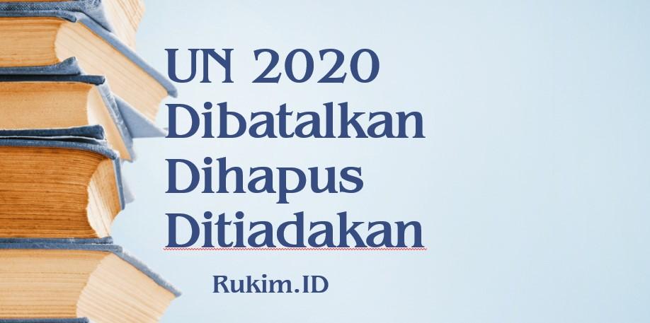 UN 2020 Dihapus karena virus corona