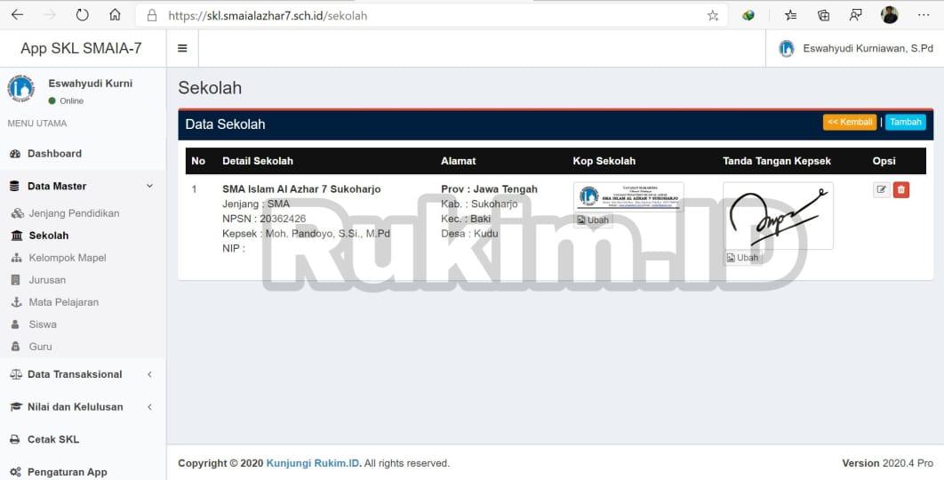 Aplikasi Pengumuman Kelulusan Online Gratis Cetak SKL
