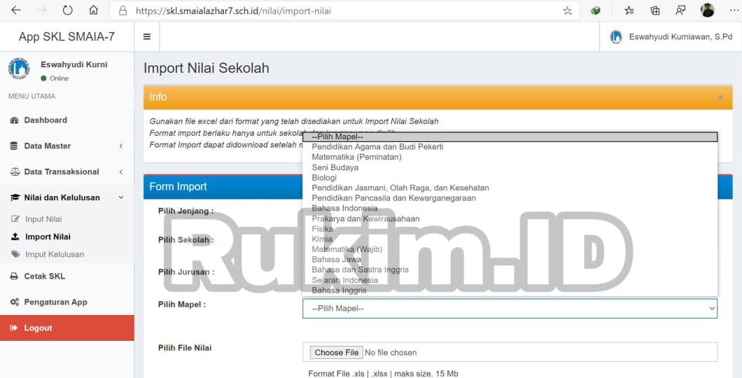 Aplikasi Pengumuman Kelulusan Online Gratis Import Nilai