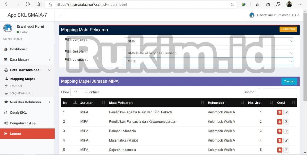 Aplikasi Pengumuman Kelulusan Online Gratis Maping Mapel