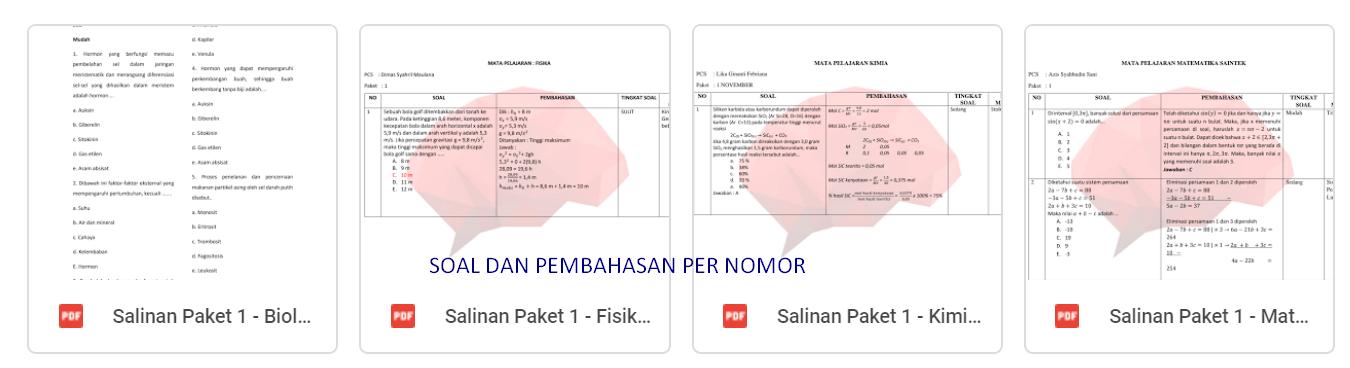 Download Prediksi Soal UTBK 2020 TPS TKA Saintek Soshum Cerebrum Lengkap PDF