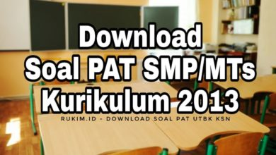 Photo of Download Soal PAT Matematika Kelas 9 SMP MTs 2020 PDF