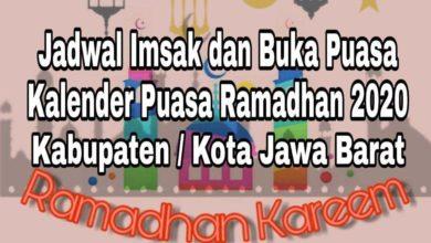 Photo of Jadwal Imsak dan Buka Puasa Ramadhan Kota Bandung 2020 M / 1441 H