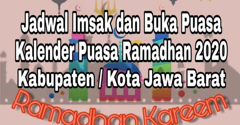 Jadwal Imsak dan Buka Puasa Ramadhan Jawa Barat 2020 M 1441 H
