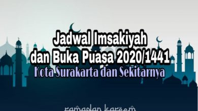 Photo of Jadwal Imsakiyah dan Buka Puasa Ramadhan Kota Solo 2020 M / 1441 H (Kalender Puasa Ramadhan)