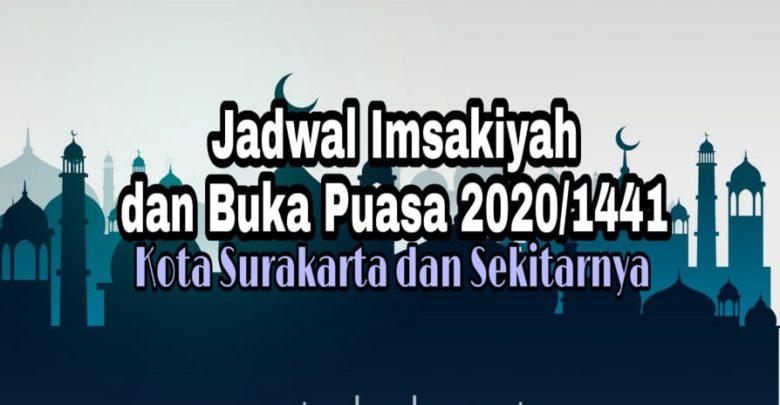 Jadwal Imsakiyah dan Buka Puasa Kota Solo 2020 1441 H