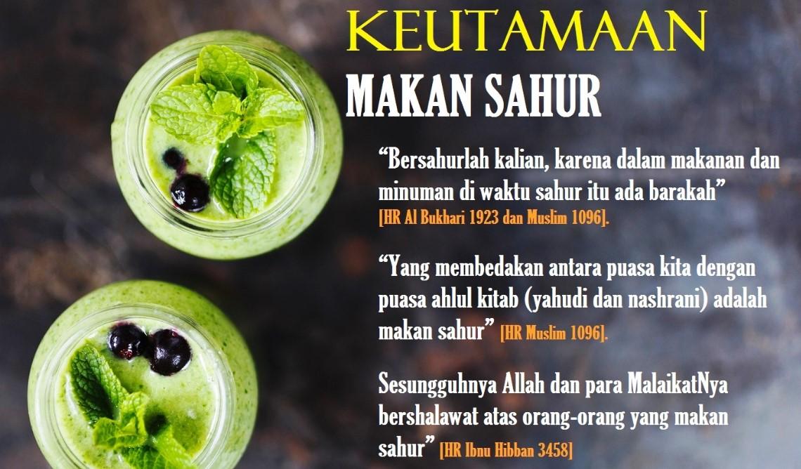 Keutamaan Makan Sahur Puasa Ramadhan