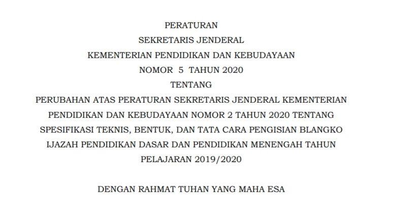 Tanggal Kelulusan Ijazah SD SMP SMA 2020