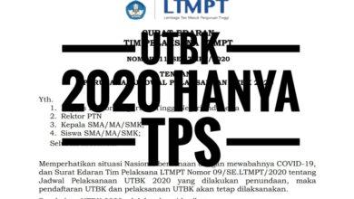 Photo of Hal-hal Penting yang Wajib Diketahui Pasca UTBK 2020 Hanya TPS