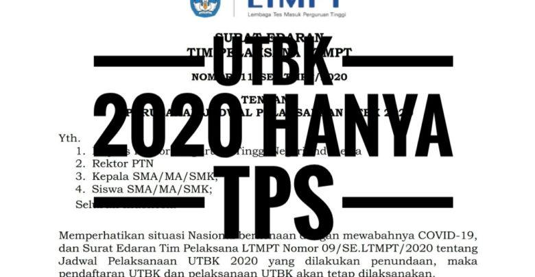 UTBK 2020 hanya TPS