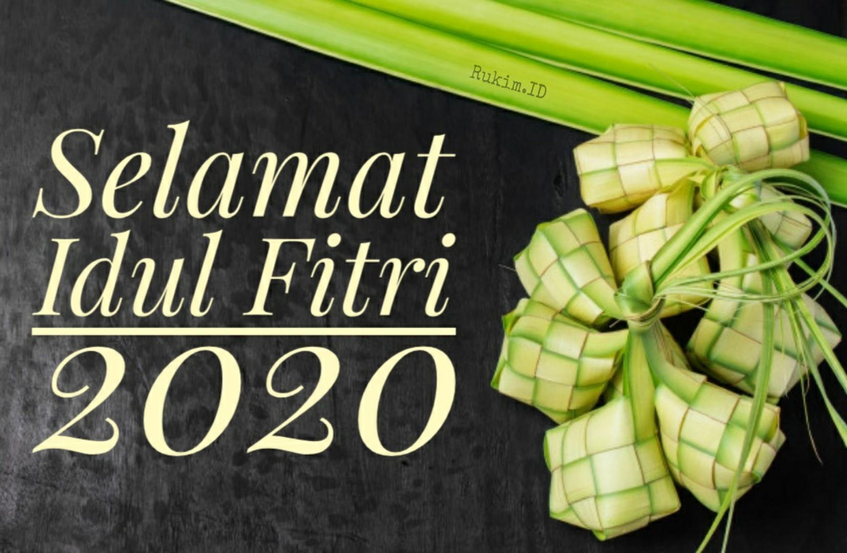 Gambar Ucapan Selamat Hari Raya Idul Fitri 2020