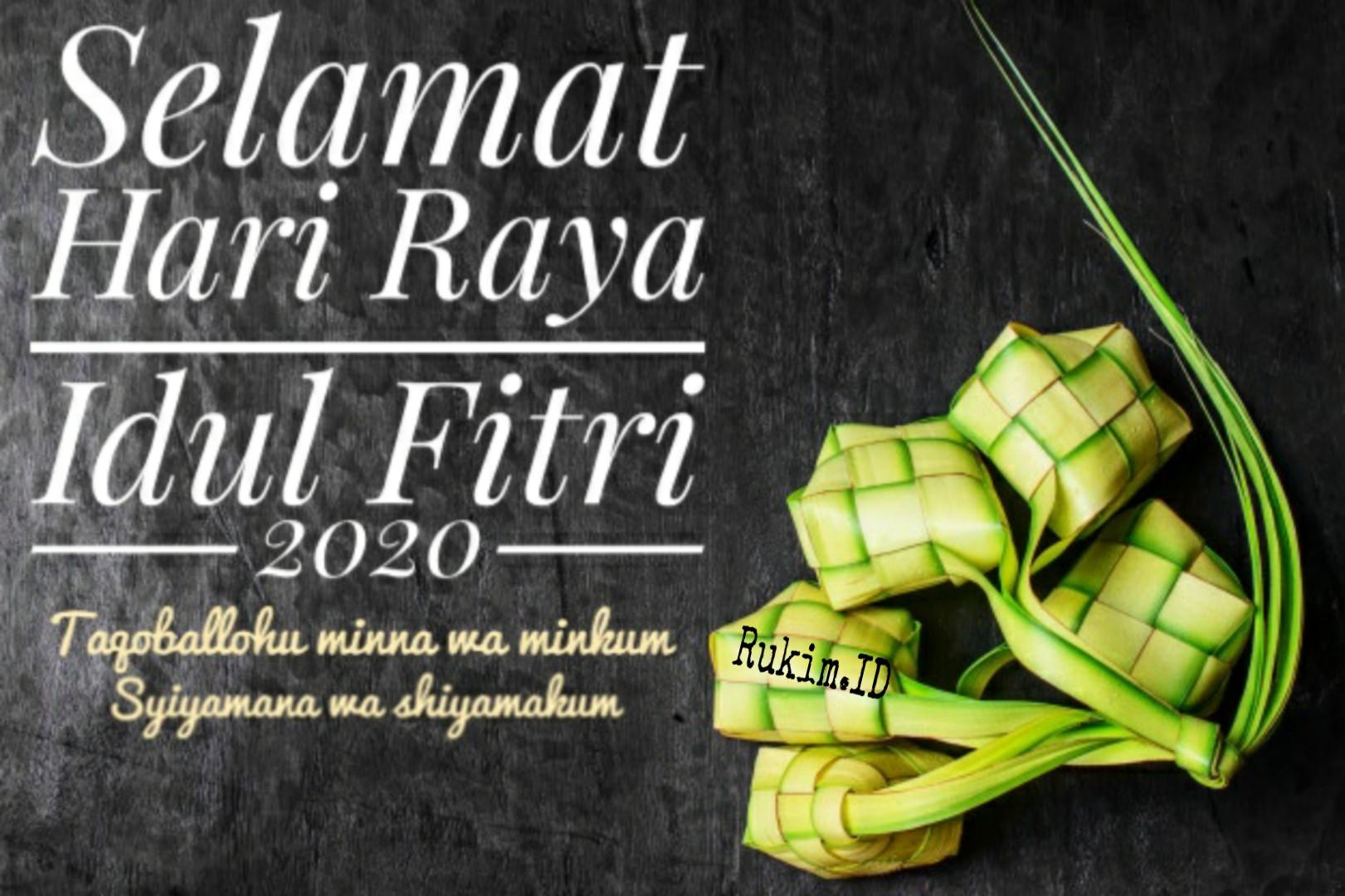 Gambar Ucapan Selamat Idul Fitri 2020