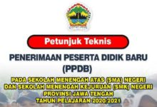 Juknis PPDB 2020 2021 Provinsi Jawa Tengah