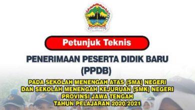 Photo of Download Petunjuk Teknis Juknis PPDB SMA SMK Jawa Tengah Tahun 2020/2021