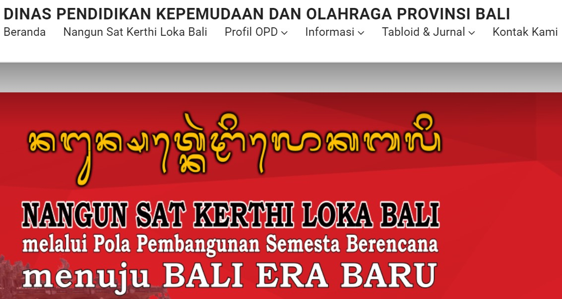 Kaldik Bali 2020 2021 Disdikpora