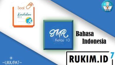 Photo of Soal dan Kunci PAT Bahasa Indonesia Kelas 10 Semester Genap 2020 K13 PDF