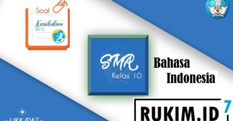 Soal PAT Bahasa Indonesia Kelas X SMA 2020 PDF