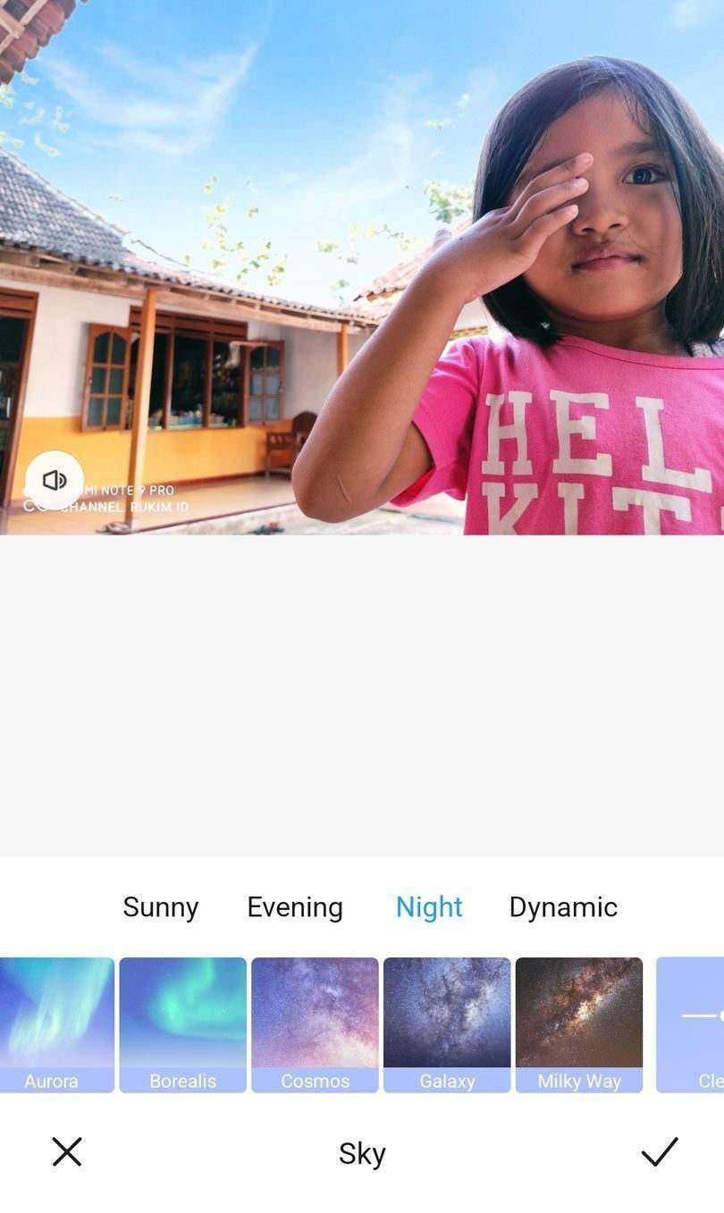 Cara update galeri Xiaomi fitur Sky