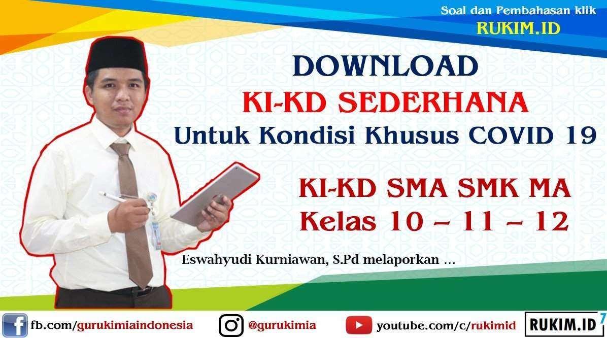 Download KI KD Sederhana SMA SMK Kelas 10 kelas 11 kelas 12 semua mapel