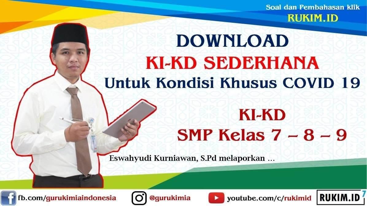 Download KI KD Sederhana SMP Kelas 7 kelas 8 kelas 9 semua mapel