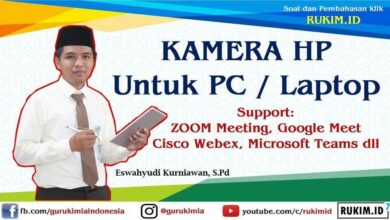 Kamera HP untuk Zoom Meeting, Google Meet, Cisco Webex
