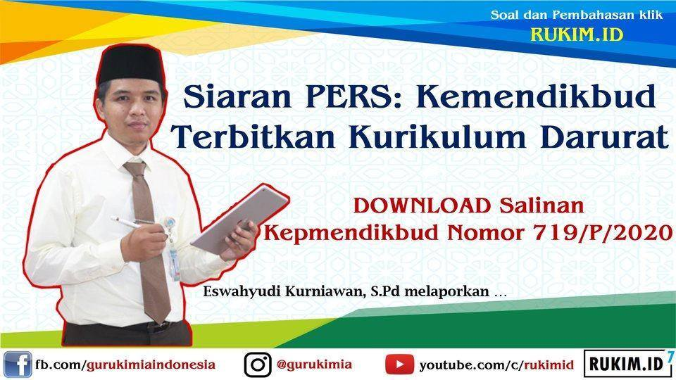 SKB Empat Menteri Kurikulum Darurat Covid 19