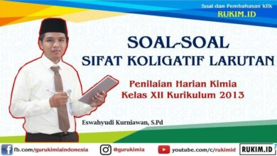 Photo of Soal PH Sifat Koligatif Larutan Kimia Kelas XII