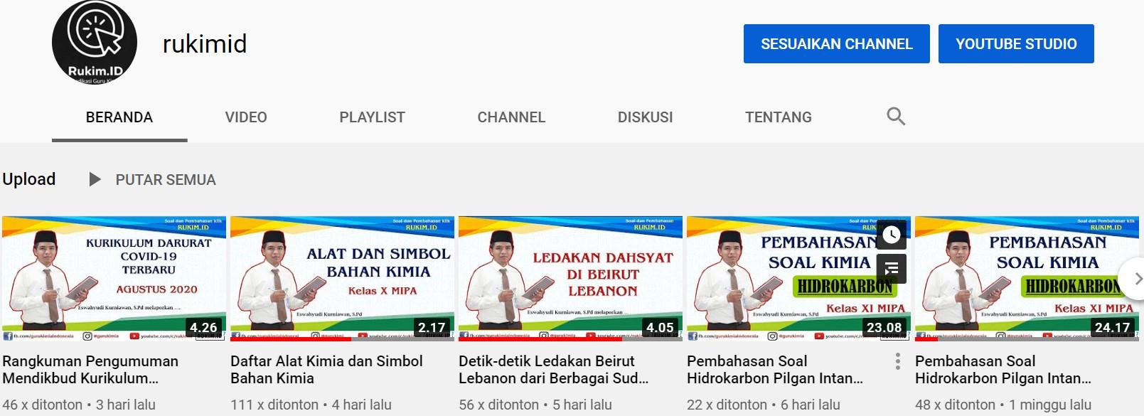 Struktur Atom Channel Kimia Youtube Rukim