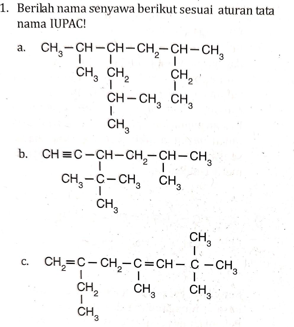 Soal senyawa hidrokarbon kelas 11 tahun 2020