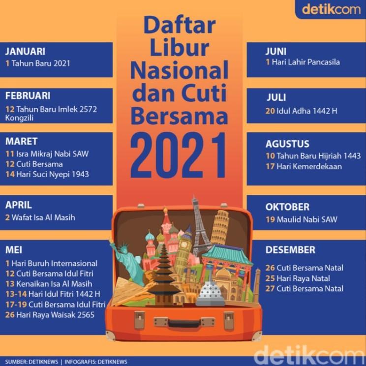 Hari libur nasional cuti bersama 2021 excel pdf