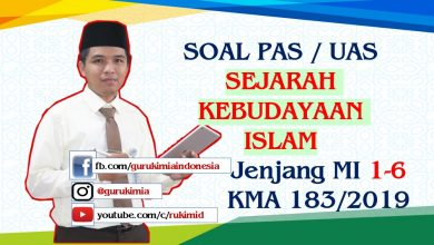 Soal Pembahasan UAS PAS Sejarah Kebudayaan Islam MI KMA 183 2019