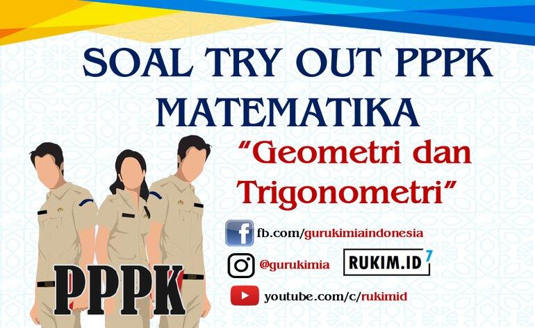 Soal try Out PPPK Matematika SMP SMA SMK 2021 Geometri Trigonometri