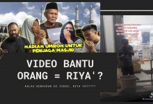 video viral membantu orang riya